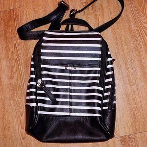 Striped mini backpack